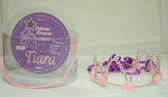 Princess Tiara Crown Beaded Pink NIP