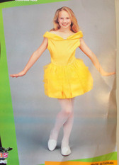 Belle Ballerina Yellow Dress Child Costume 8-10 NIP