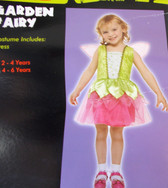 Garden Fairy Green Pink Child Costume Dress 4-6 Years NIP