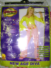 New Age Diva Child 70's Diva Costume Dress-up NWT 8-10