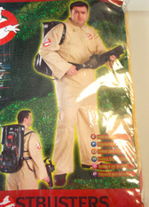 Ghostbusters Adult Costume Jumpsuit Backpack Standard Plus NIP