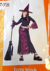 Jazzy Witch Child Costume Dress Hat Small 6-8 NIP
