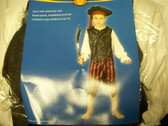 Caribbean Pirate Boy Costume M 8-10 NWT