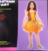 Autumn Fairy Orange Green Child Costume Medium NIP
