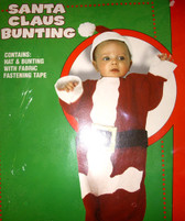 Santa Claus Bunting Child Christmas Holiday Costume Bunting 0-9 Months NIP
