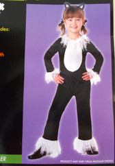 Black Kitty Child Toddler Costume Jumpsuit Ears 12-18M NIP