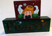 "2 Piece Light-Up Peace Tabletop Decor Angel 8"" NWT"
