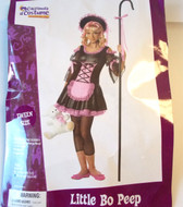Black Pink Little Bo Peep Tween Costume L 10-12 NIP