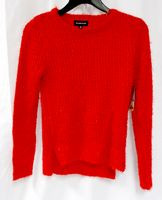 Rampage Juniors' Red Metallic Open-Knit Pullover Sweater XL NWT