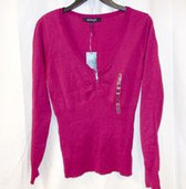 Energie Juniors' Zipper Front Pullover Raspberry Sweater XL NWT