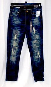 Kut from the Kloth Reese Ankle Destroyed Straight Leg Jeans Equality Wash 0 NWT