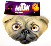 Caretas Rev Tan Black Dog Costume Mask Adult OSFM NIP