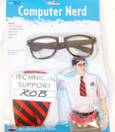 Fun World Black Red White Computer Nerd Costume Adult OSFM NIP