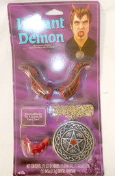 Fun World Instant Demon Red Silver Costume Adult OSFM NIP