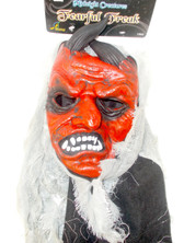 Seasons Midnight Creatures Fearful Freak Red Devil Costume Mask Adult OSFM NIP