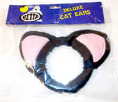 Betta Child Deluxe Black Cat Ears Headband OSFM 5+ NIP