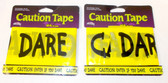 Fun World Black Yellow Lot of 2 Enter If You Dare Caution Tape 50ft NIP