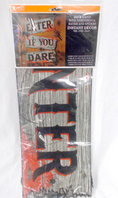 Impact innovations Black Red Enter If You Dare Door Halloween Sign 21 in NIP