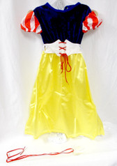 Rubies Yellow Red Blue White Snow White Costume Dress M 8-10 NIP