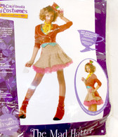 California Costumes The Mad Hatter Jacket Skirt Costume Junior S M NIP