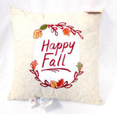 Kohl's Celebrate Fall Happy Fall Leaves Linen Pillow Decoration 18' NWT