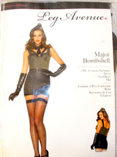 Leg Avenue Green Black Major Bombshell Costume Dress M NIP