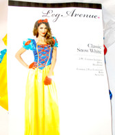 Leg Avenue Classic Snow White Dress Headband Blue Yellow Adult Costume S M L NIP