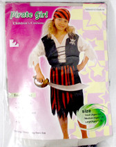 Black White Red Pirate Girl Costume Skirt M 7-10 NIP
