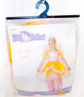 Disguise Princess Fairy Child Costume Dress Wings Tiara Headband Pink Orange Child 4-6X NIP