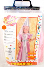 Rubies Cute Cuddly Princess Child Costume Pink White Dress Belt Hat With Veil Toddler 2-4 NIP