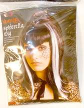 Fun World Black White Spiderella Costume Wig OSFM NIP