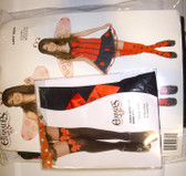 Ladybug Lady Bug Girls Costume Child Red Dress Black Tights S 6-8 NIP