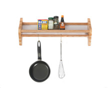 Wall Mount Pot Rack in Solid Red Oak