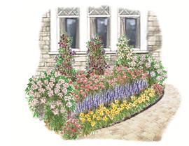 Flowering Foundation Garden