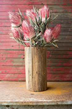 Recycled Wood Cylinder Vase