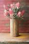 Recycled Wood Cylinder Vase