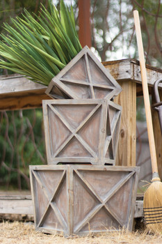 Set Of Three Wooden Cross Planter Boxes