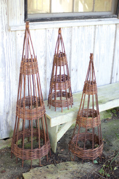 Set Of Three Willow Topiaries