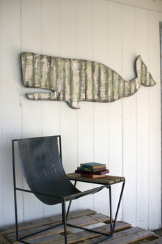 Reclaimed Wood Giant Whale Wall Hanging