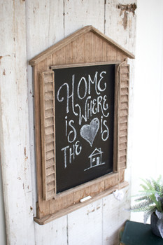 Wooden Chalkboard With Shutters