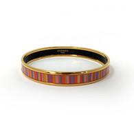 Hermès Narrow Striped Bangle