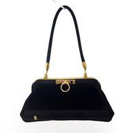 Roberta di Camerino Black Velvet Handbag