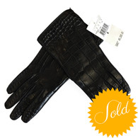 Lambertson Truex Crocodile Gloves
