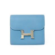 Hermès Blue Constance Wallet