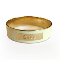 "Chloé Gold and ""Milk"" Bracelet"