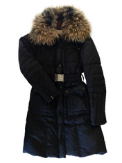 Moncler Fur-Trimmed Coat