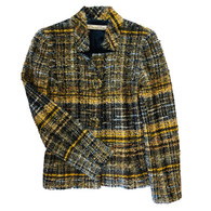 Oscar de la Renta Gold Tweed Jacket
