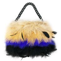 Betsey Johnson Feathered Purse