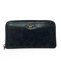 Prada Blue Leather Wallet