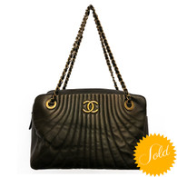 Chanel Pewter Rue Cambon Purse